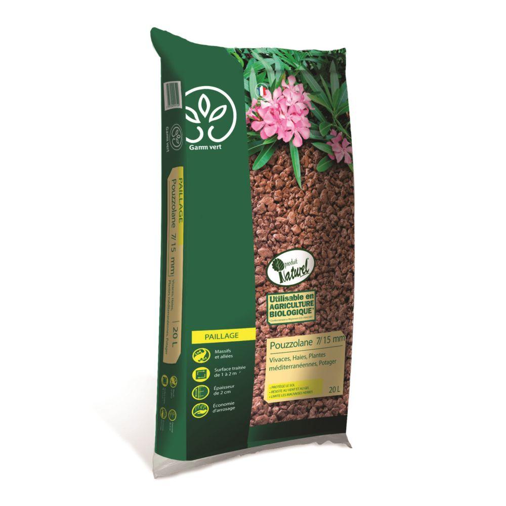 Pouzzolane 7 15 mm 20 l gamm vert 1 sac de 20 kg gamm vert for Gamm vert muzillac