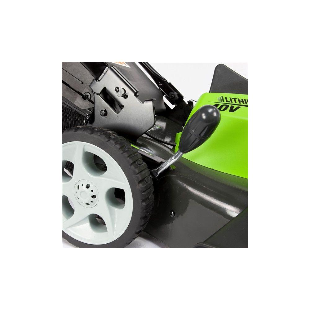 tondeuse sur batterie greenworks 40v g40lm45 colis gamm vert. Black Bedroom Furniture Sets. Home Design Ideas
