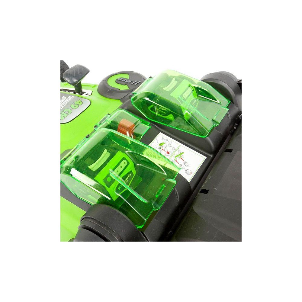 tondeuse sur batterie 40v g40lm49db greenworks colis gamm vert. Black Bedroom Furniture Sets. Home Design Ideas