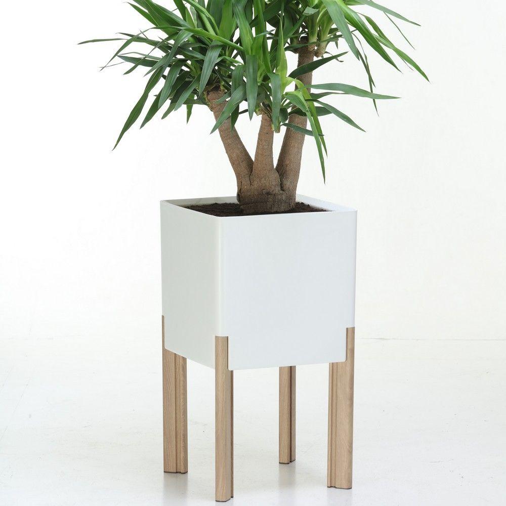 bac fleurs sur pieds l40 h75 blanc mondum gamm vert. Black Bedroom Furniture Sets. Home Design Ideas
