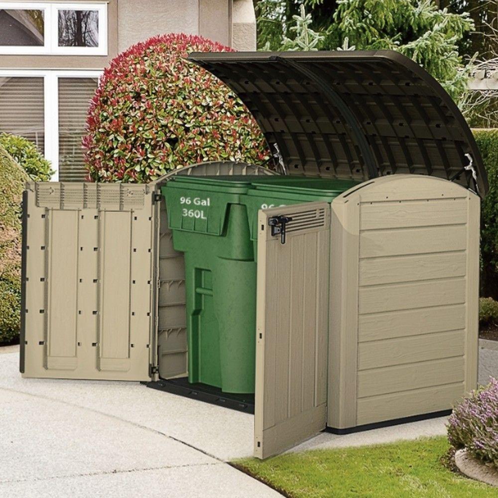 coffre de jardin r sine arc beige 2000l l 133 x l 114 x h 42 cm gamm vert. Black Bedroom Furniture Sets. Home Design Ideas