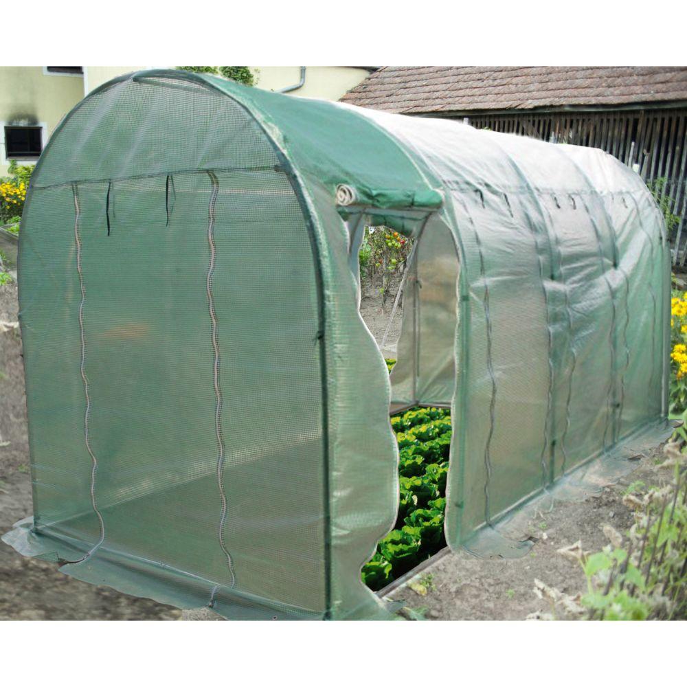 finest serre tunnel m saisons habrita with serre de jardin. Black Bedroom Furniture Sets. Home Design Ideas
