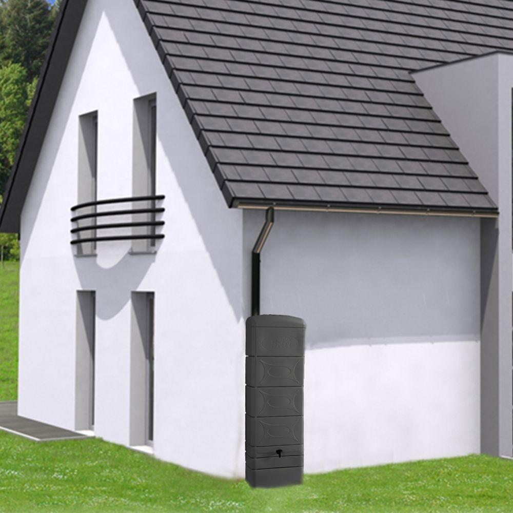 Récupérateur d'eau mural BELLIJARDIN Déco anthracite 300 L