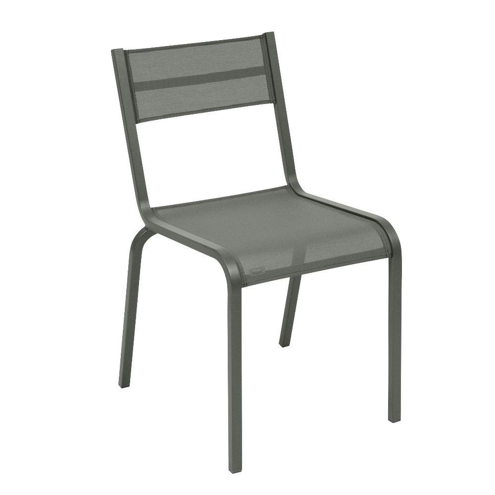 Chaise Fermob Oléron aluminium/textilène romarin