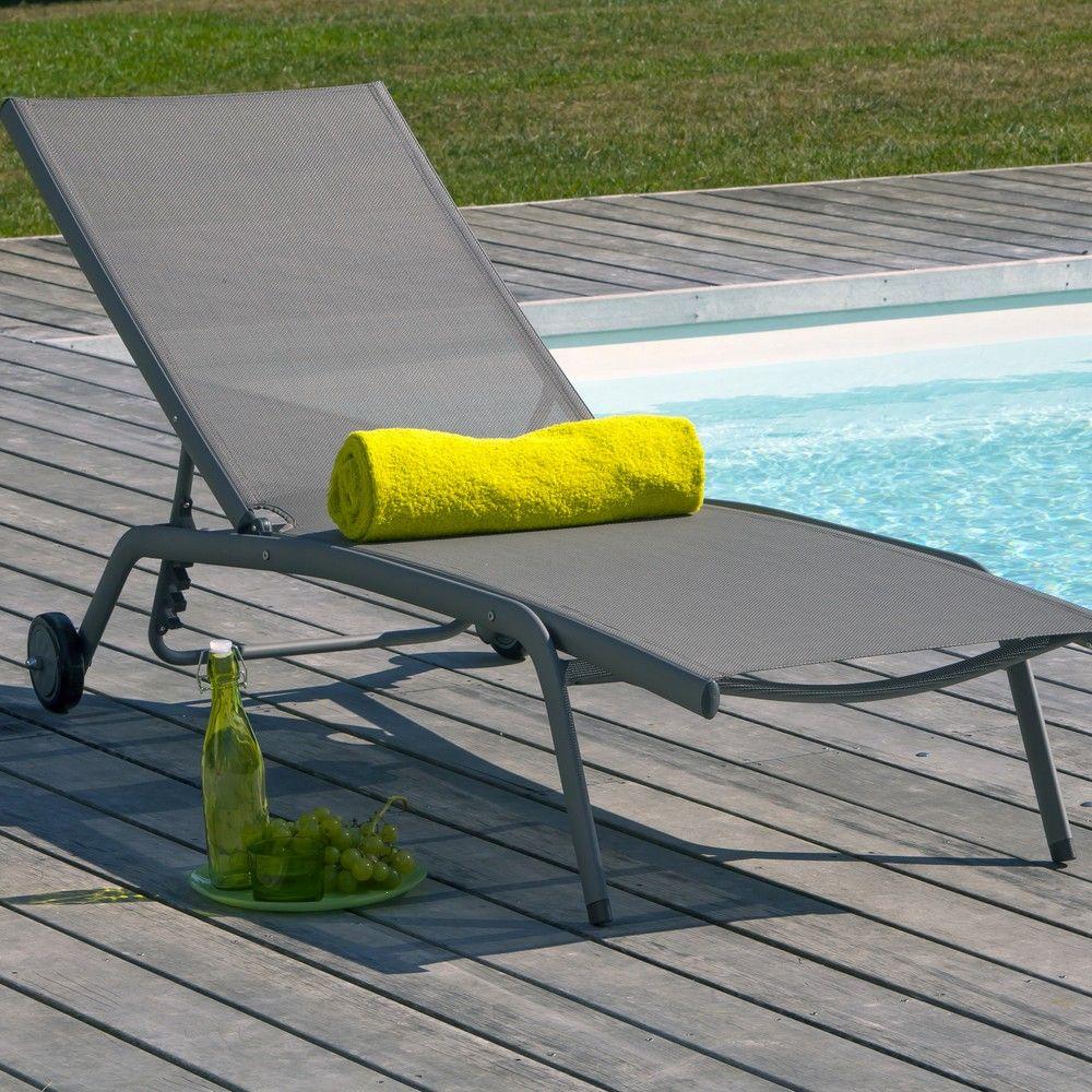 Bain de soleil Prima aluminium/textilène taupe