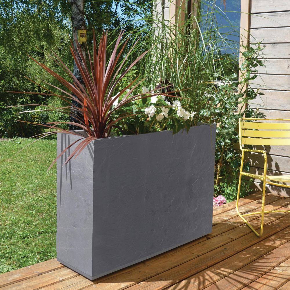 muret eda volcania loft l99 5 h78 5 cm anthracite gamm vert. Black Bedroom Furniture Sets. Home Design Ideas