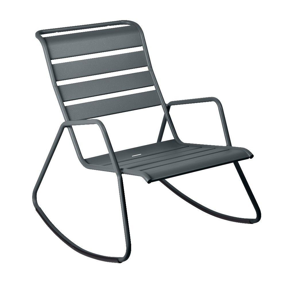 Fauteuil rocking chair Fermob acier gris orage