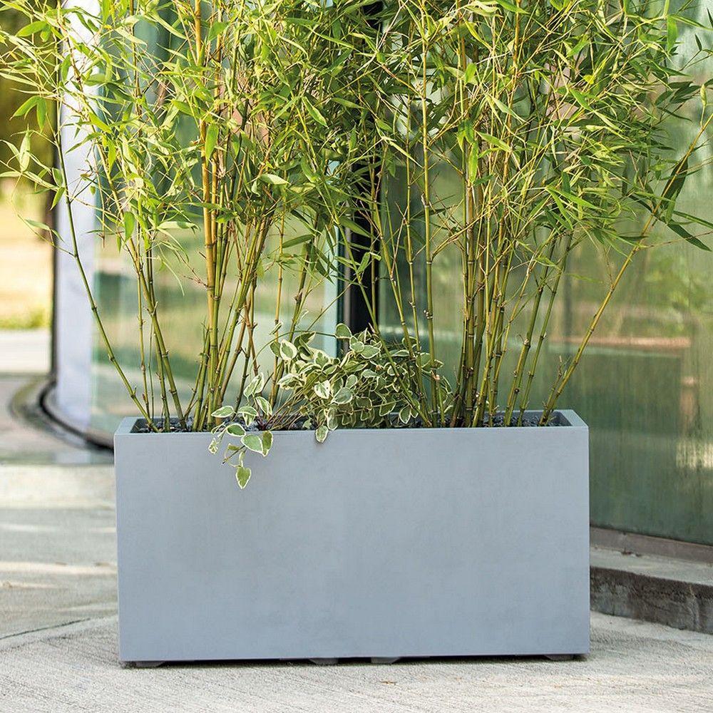 Jardini re en r sine l79 h39 mill nium deroma b ton 79xh39 gamm vert - Etancheite jardiniere beton ...