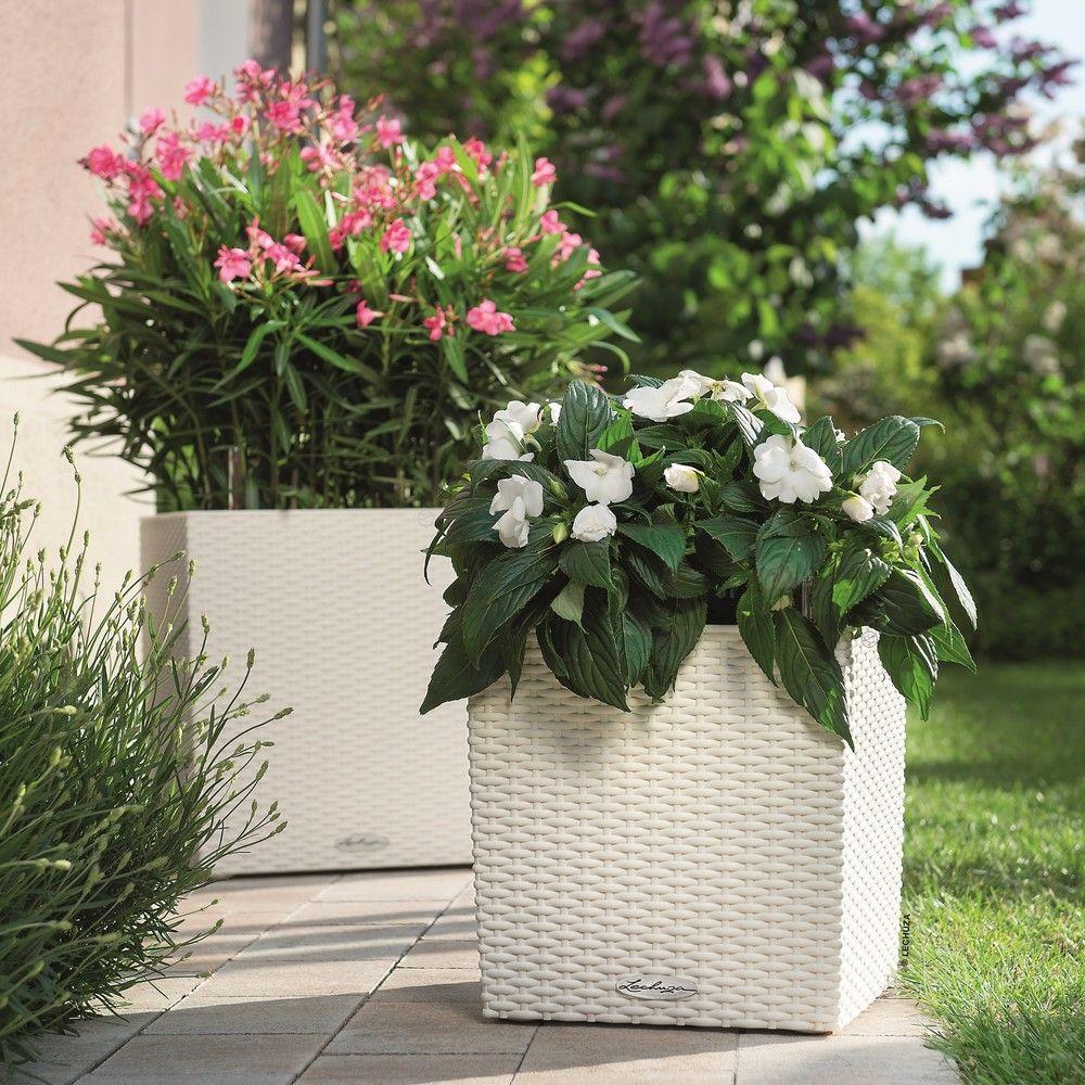 pot lechuza cube cottage l40 h40 cm blanc h 42 x l 41 x l. Black Bedroom Furniture Sets. Home Design Ideas