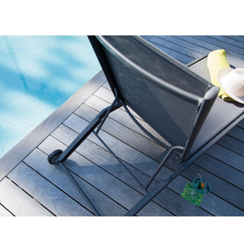 bain de soleil florence aluminium textil ne gris gamm vert. Black Bedroom Furniture Sets. Home Design Ideas