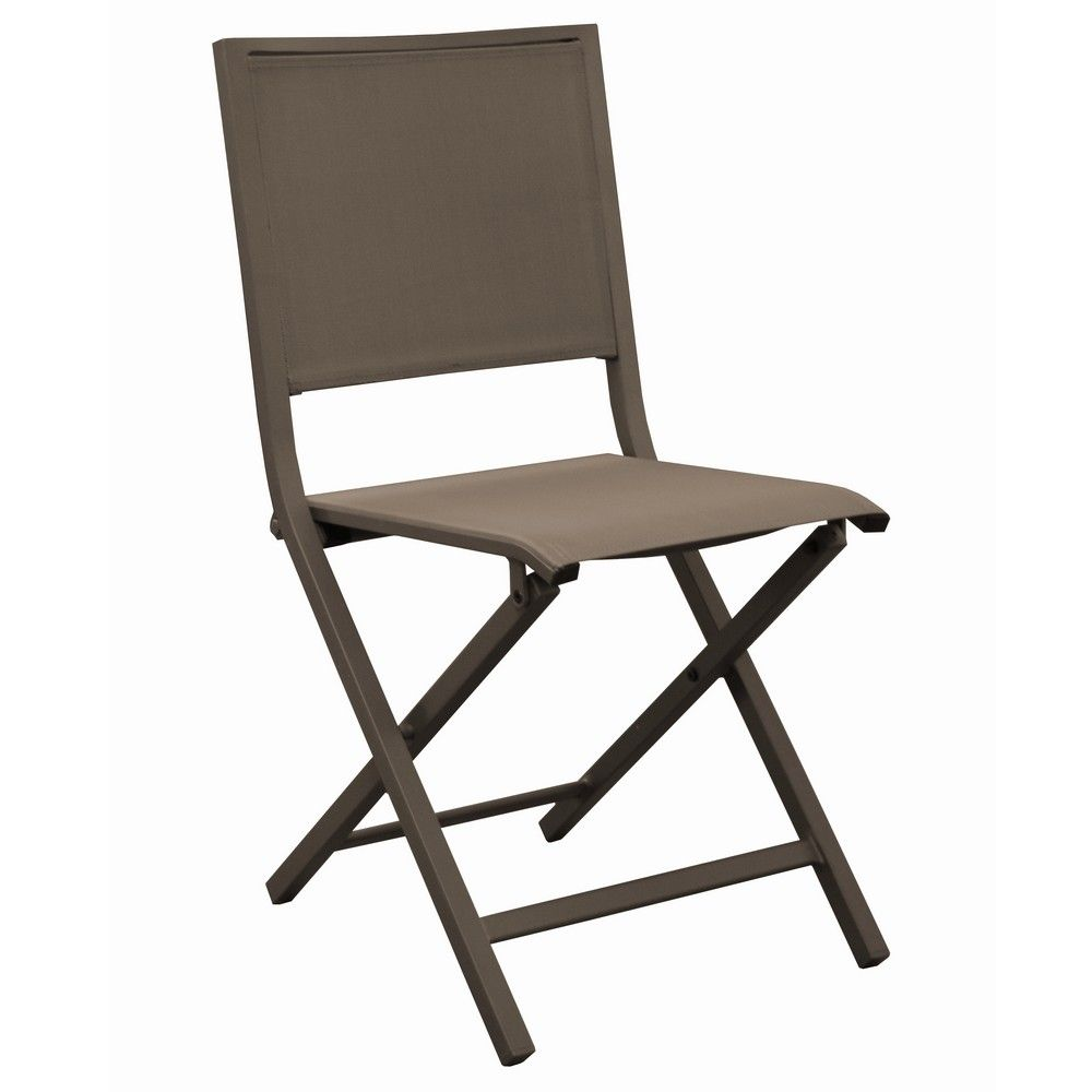 chaise pliante florence aluminium textil ne caf gamm vert. Black Bedroom Furniture Sets. Home Design Ideas