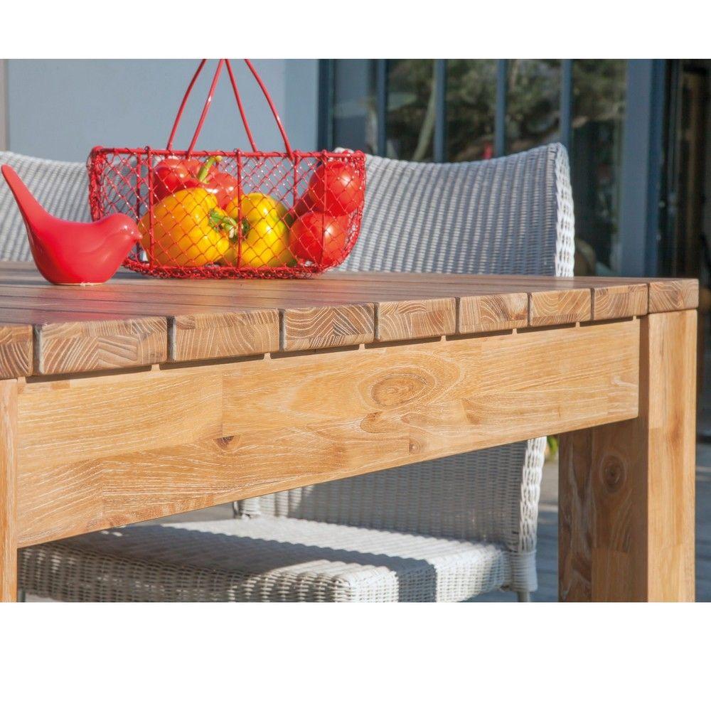 salon de jardin table k a bois 6 chaises azuro paprika noir taupe gamm vert. Black Bedroom Furniture Sets. Home Design Ideas