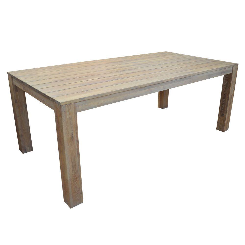 Salon de jardin table k a bois 6 chaises azuro paprika noir taupe gamm vert - Salon de jardin bois taupe ...
