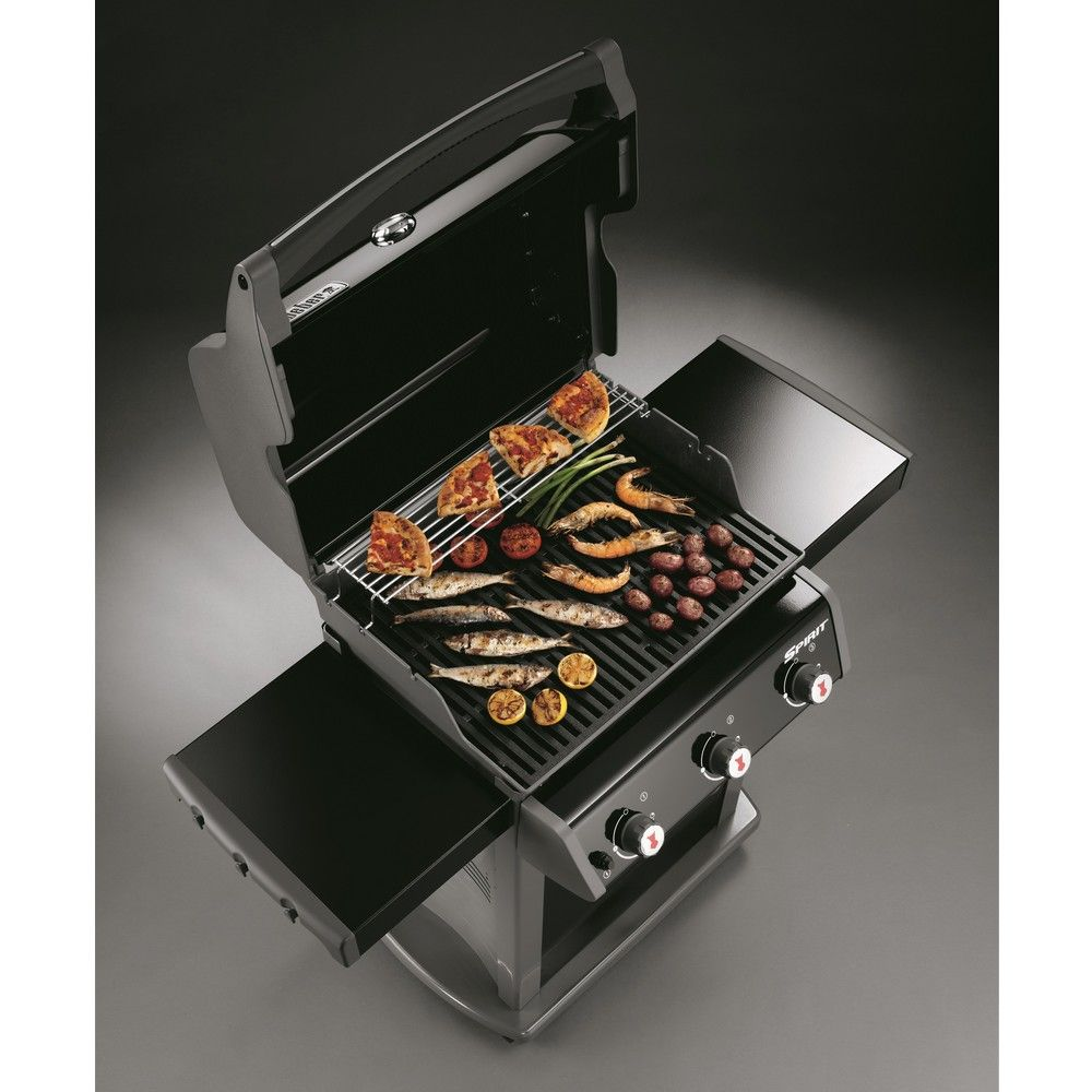 barbecue gaz weber spirit original e 310 noir plancha. Black Bedroom Furniture Sets. Home Design Ideas