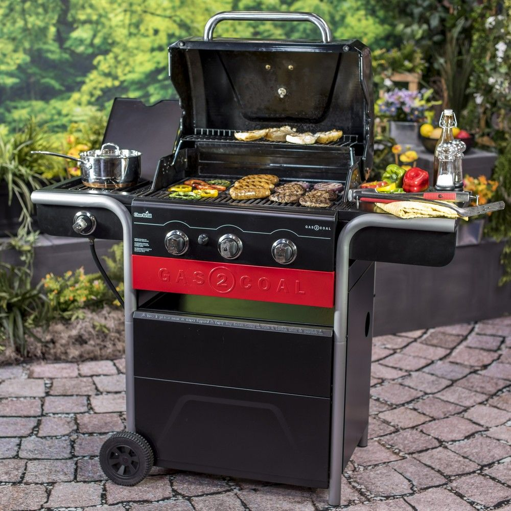 barbecue gaz char broil hybride gas2coal h 52 x l 100 1. Black Bedroom Furniture Sets. Home Design Ideas