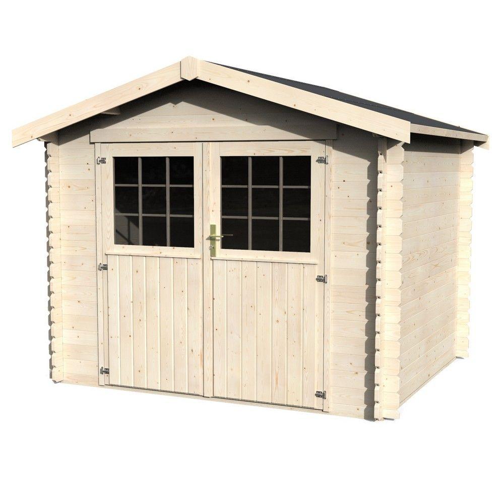 abri de jardin en bois 7 21 m mm maura plancher l 2 72 l 1 14 h 0 50 m hauteur. Black Bedroom Furniture Sets. Home Design Ideas
