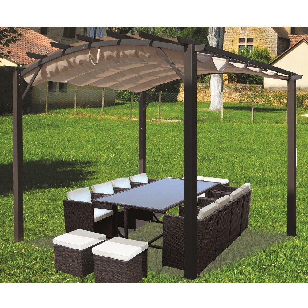 pergola aluminium toile coulissante amazing pergola. Black Bedroom Furniture Sets. Home Design Ideas