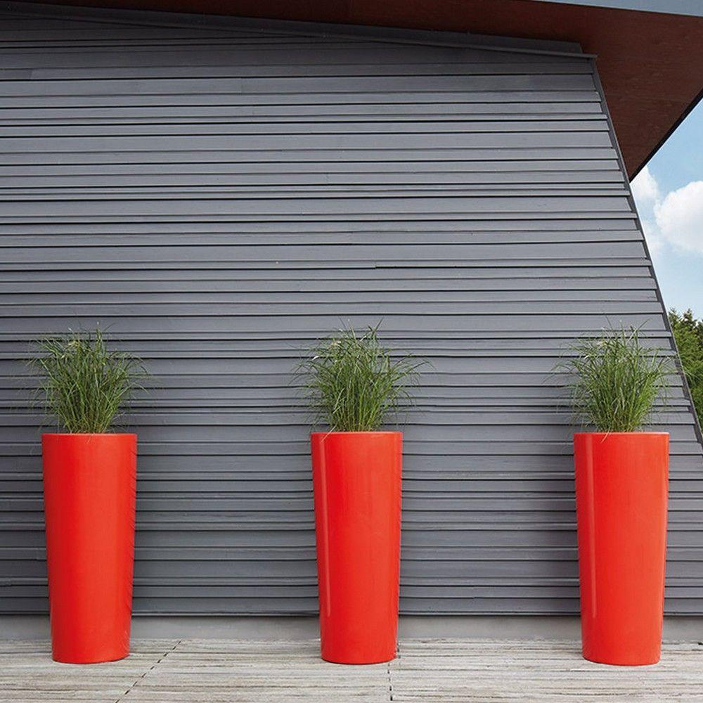 Pot Color H150 Ø62 cm rouge