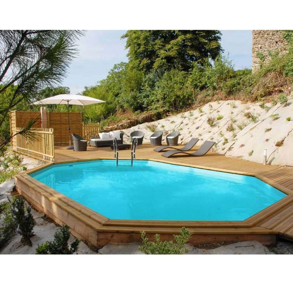 Piscine en bois trait s villa l x l m sunbay for Piscine sevilla