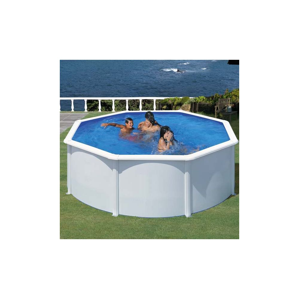 piscine ronde en acier fidji d 3 5 x h m gr gamm. Black Bedroom Furniture Sets. Home Design Ideas