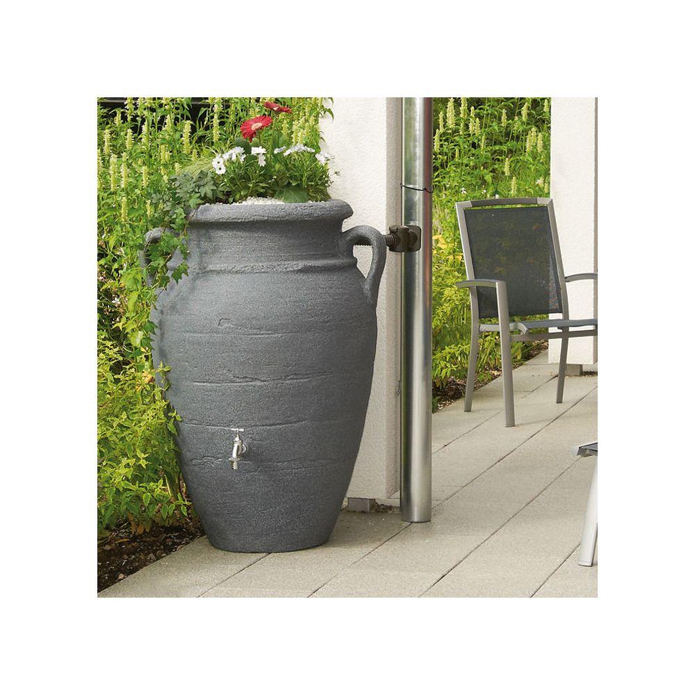 Récupérateur d'eau GARANTIA Amphore 250 L Antik Gris Granit