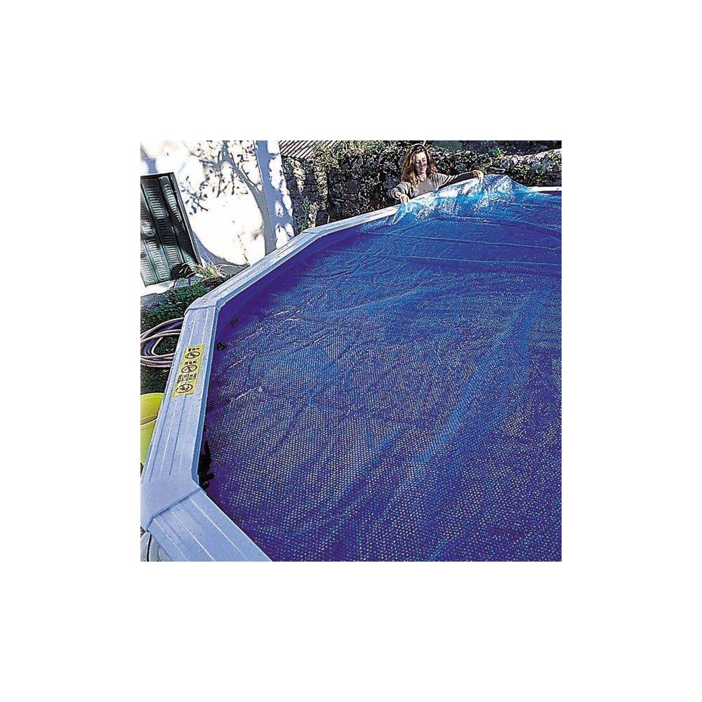 Bâche été à bulles pour piscine acier ovale 6.10 x 3.75 m – Gré