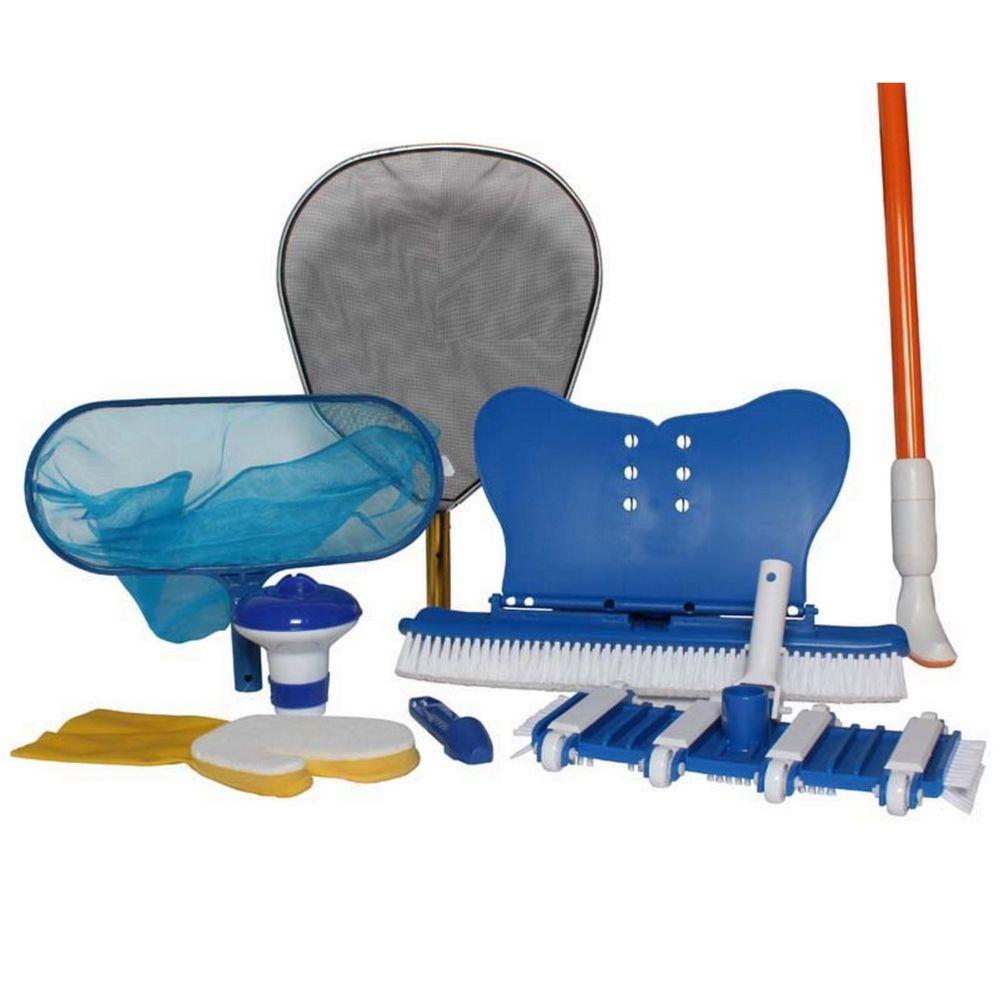 Kit Entretien 9 accessoires pour piscine à partir de 18m3 – Sunbay