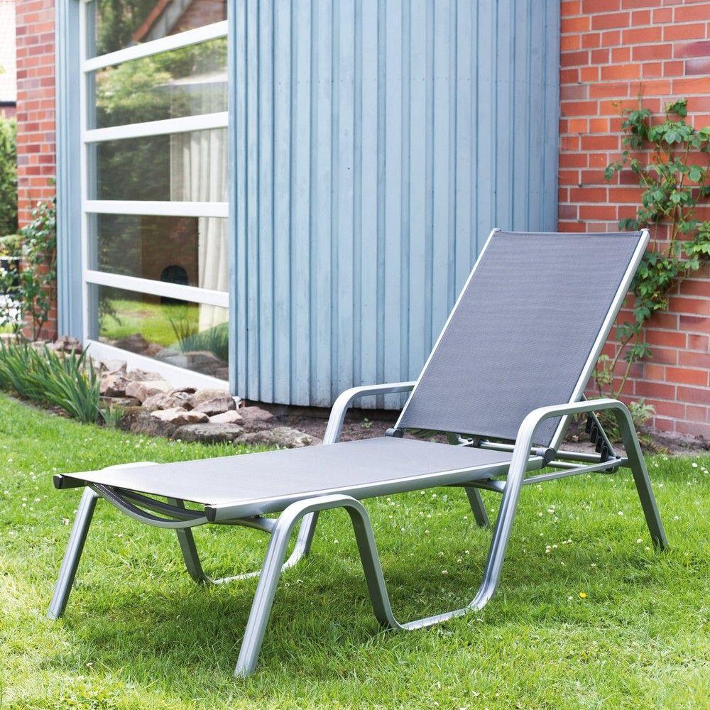 bain de soleil aluminium textil ne basic plus argent l 202. Black Bedroom Furniture Sets. Home Design Ideas
