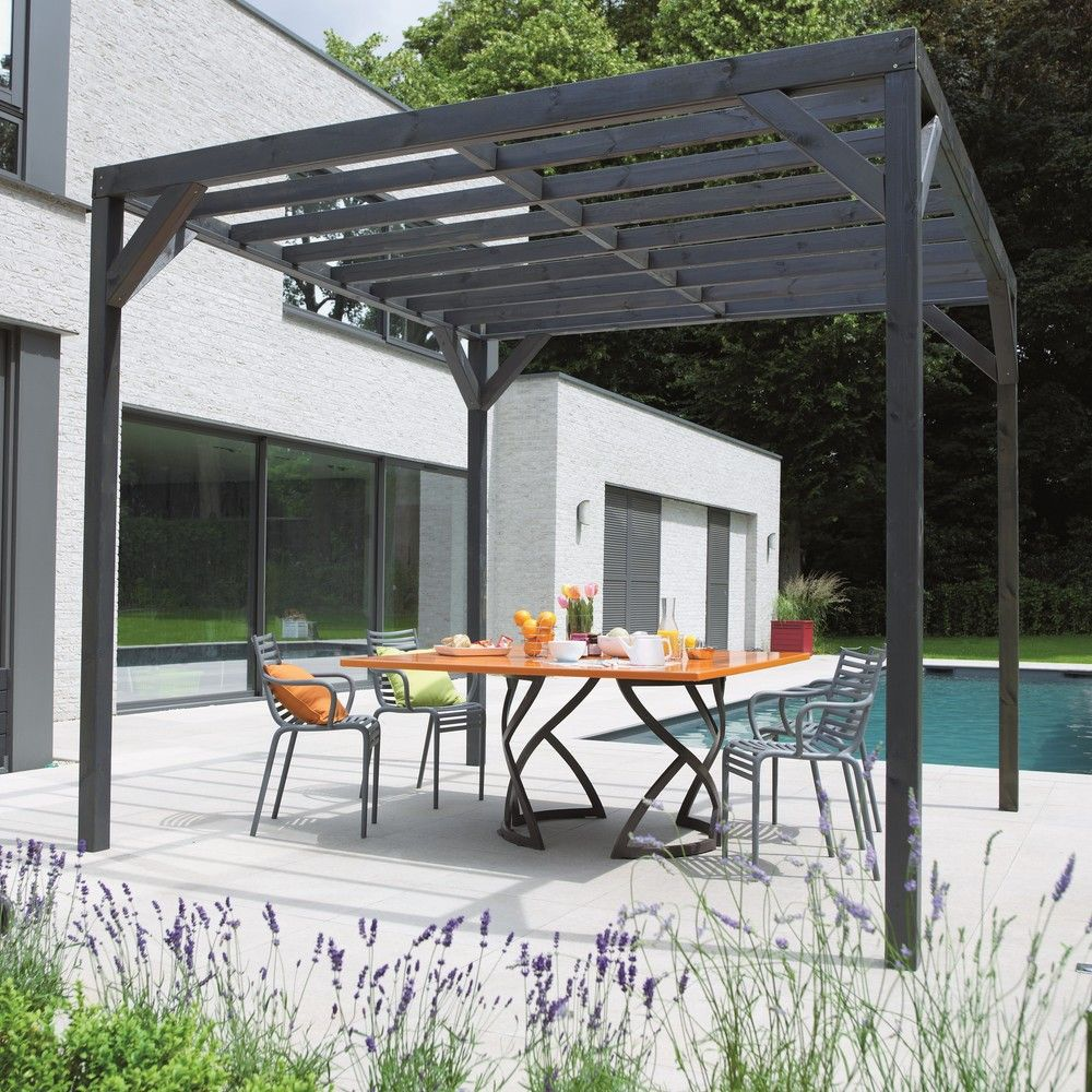 pergola autoportante kuba bois trait autoclave 3x3 m 197. Black Bedroom Furniture Sets. Home Design Ideas