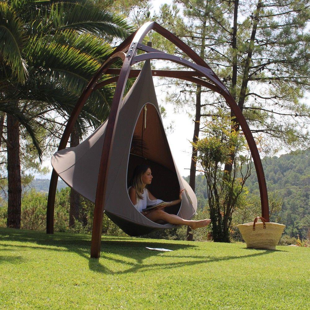 tente suspendue cacoon double gris gamm vert. Black Bedroom Furniture Sets. Home Design Ideas