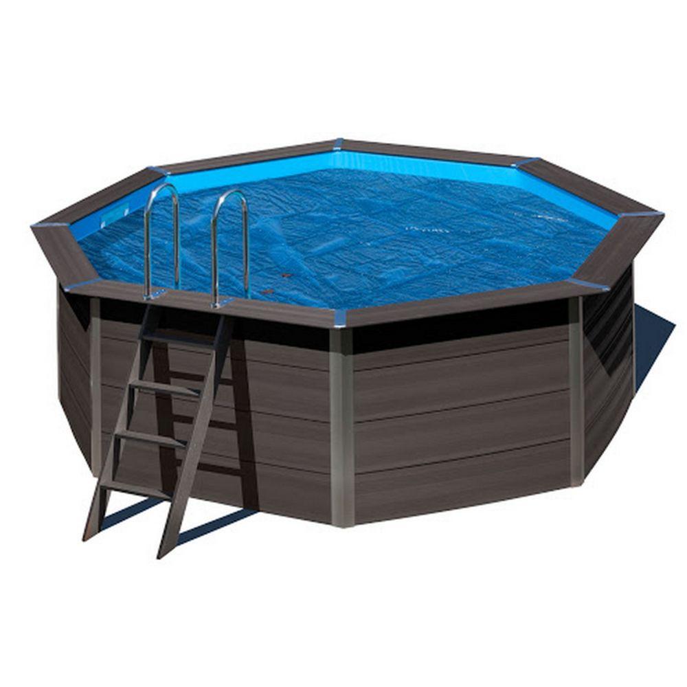 Bâche été à bulles pour piscine composite ovale L 5.24 x l 3.86 m – Gré