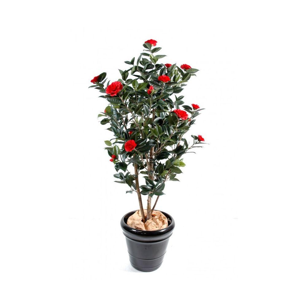 Camélia Japonica artificiel à fleurs rouges