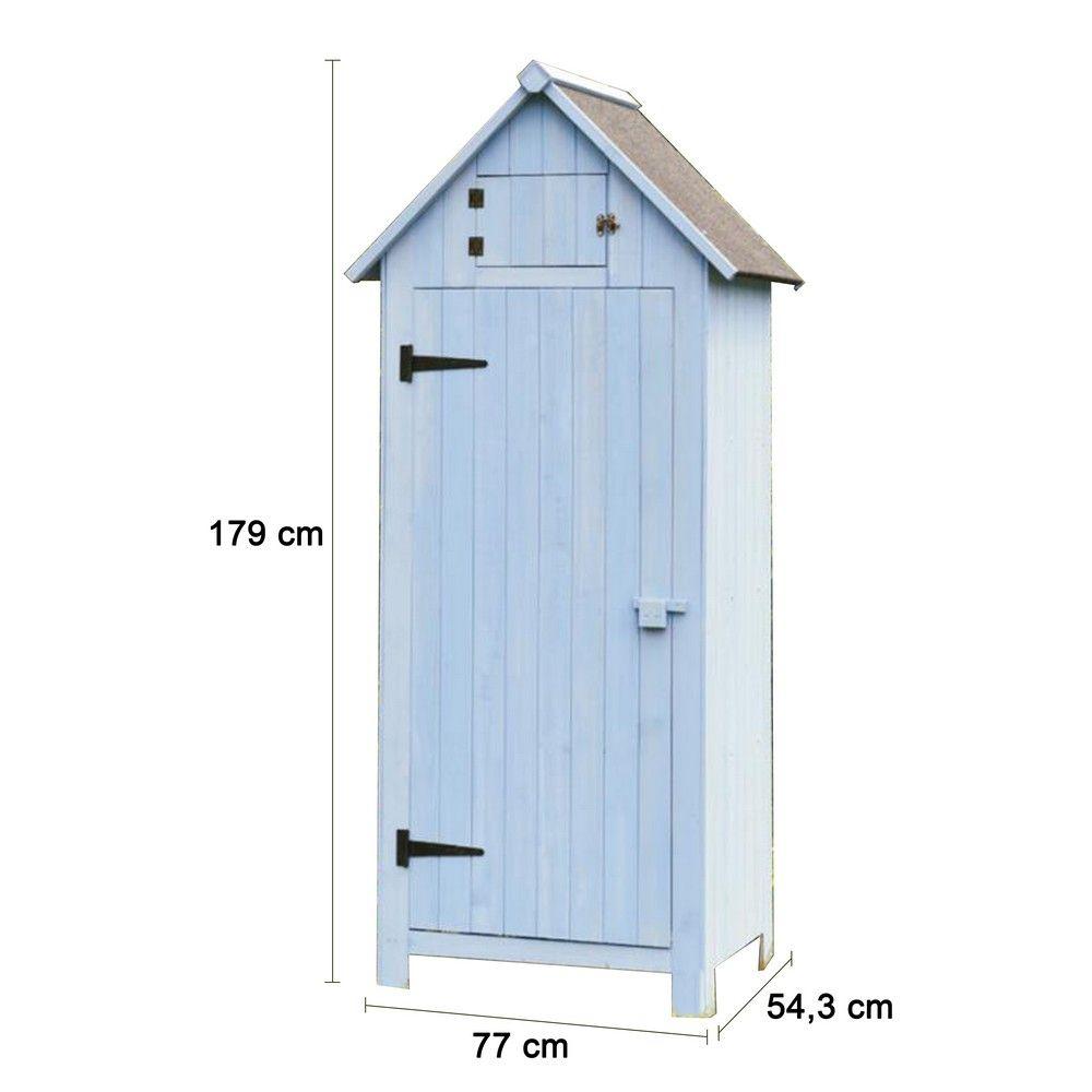 armoire de jardin bois l77 h179 cm ep 10 mm colis l 178 5. Black Bedroom Furniture Sets. Home Design Ideas