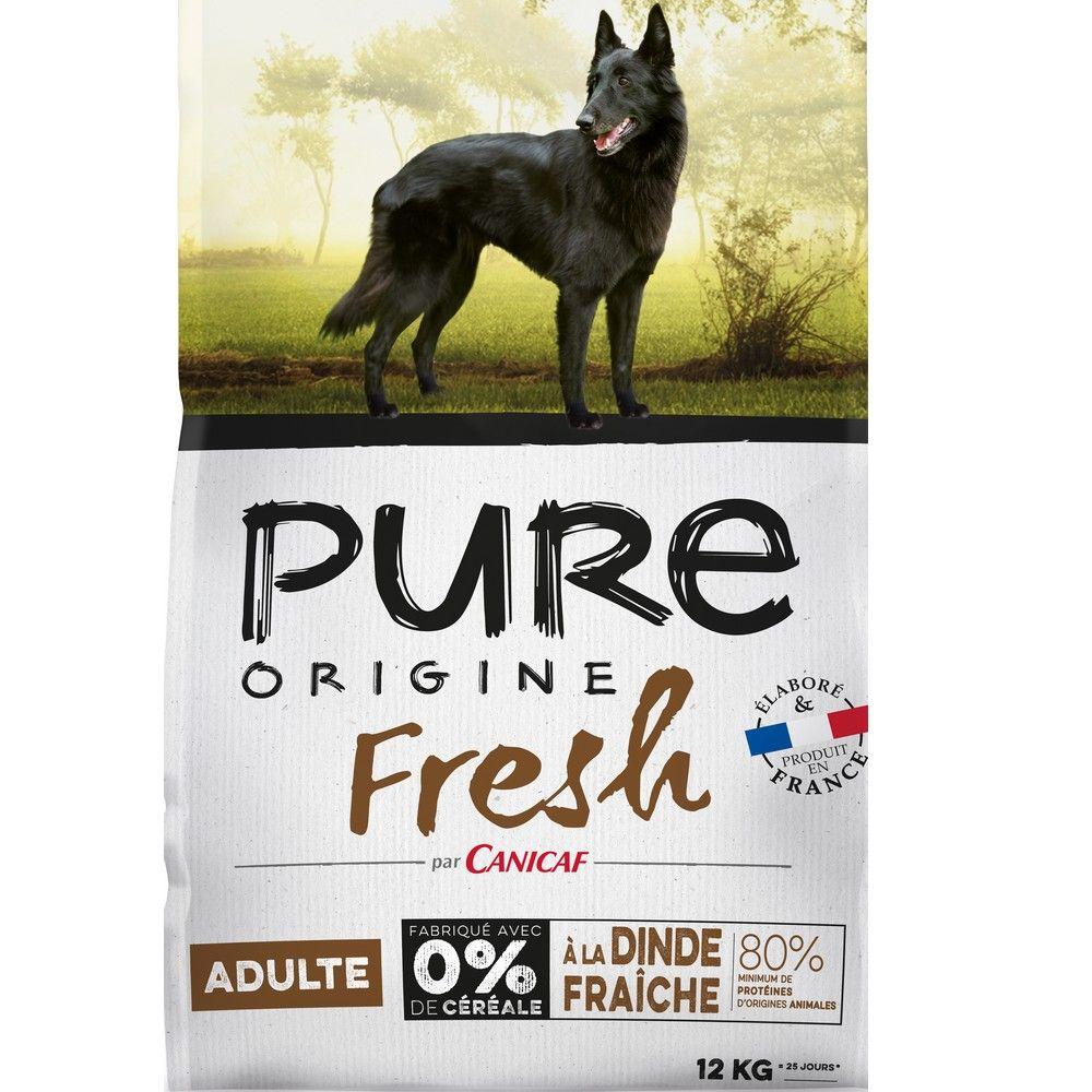 Croquettes chien adulte Pure Origine Fresh 12 kg