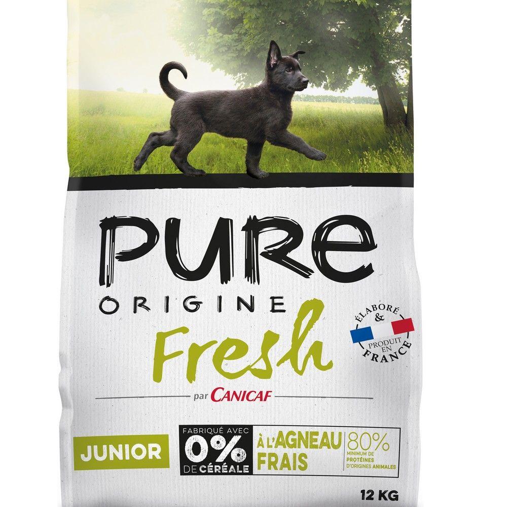 Croquettes chien junior Pure Origine Fresh 12 kg