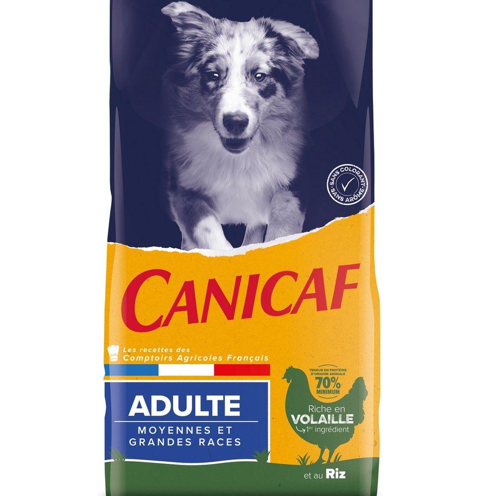 Croquettes chien adulte moyennes et grandes races Canicaf 14 kg