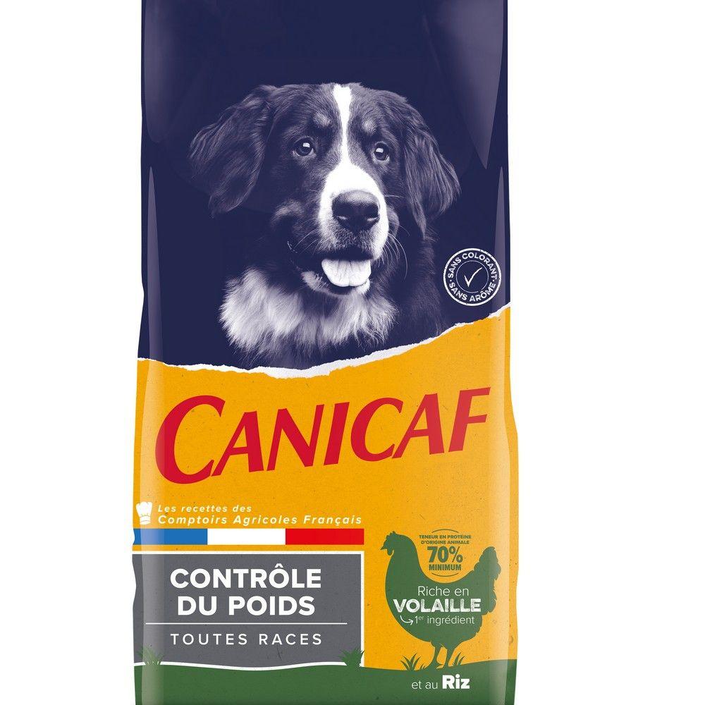 Croquettes chien adulte contrôle du poids Canicaf 14 kg