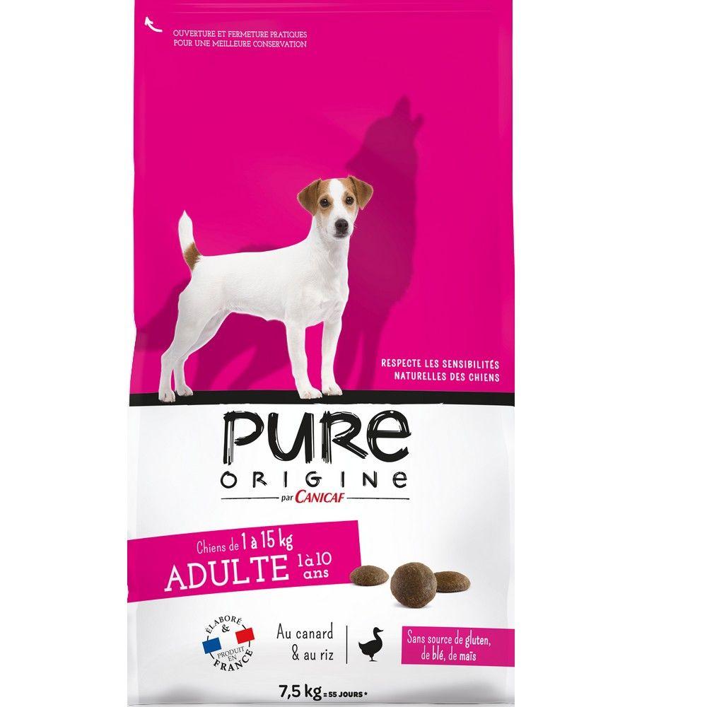Croquettes chien adulte -15 kg Pure Origine 7,5 kg