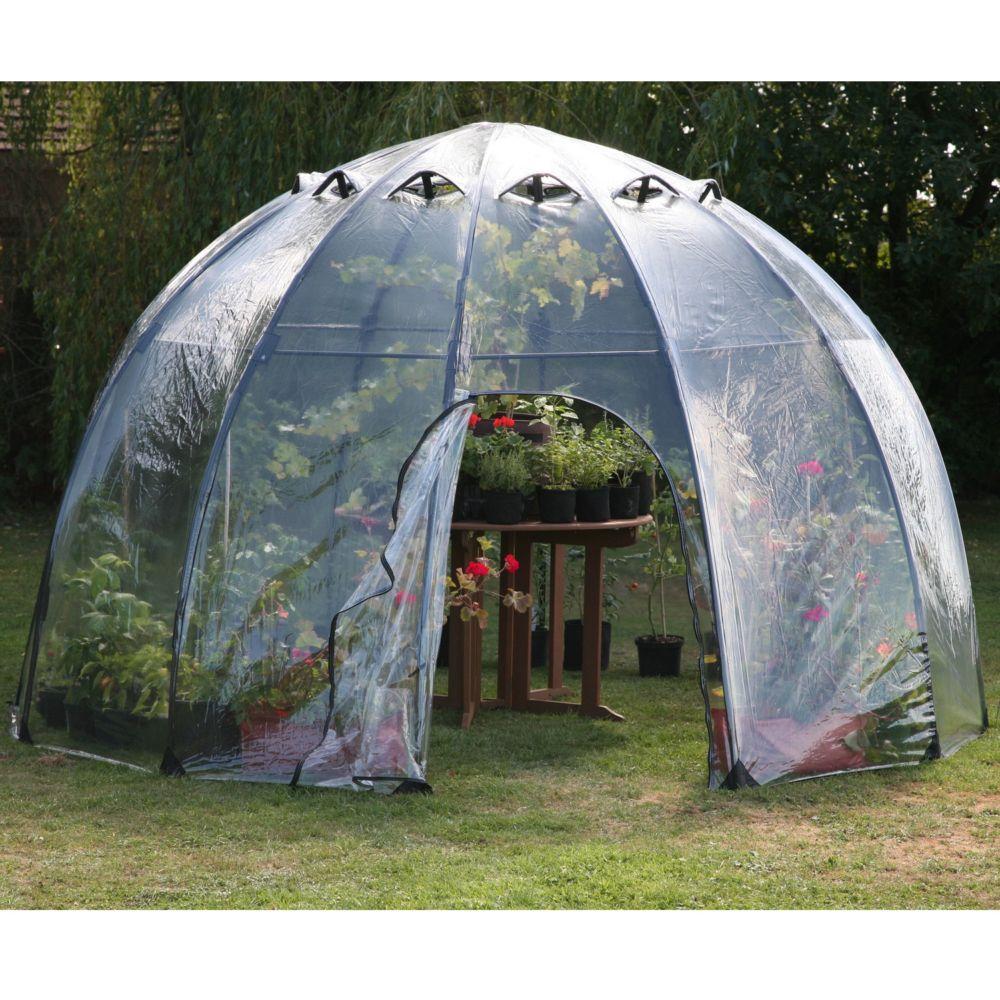 serre bulle d 39 hiver 10 m gamm vert. Black Bedroom Furniture Sets. Home Design Ideas