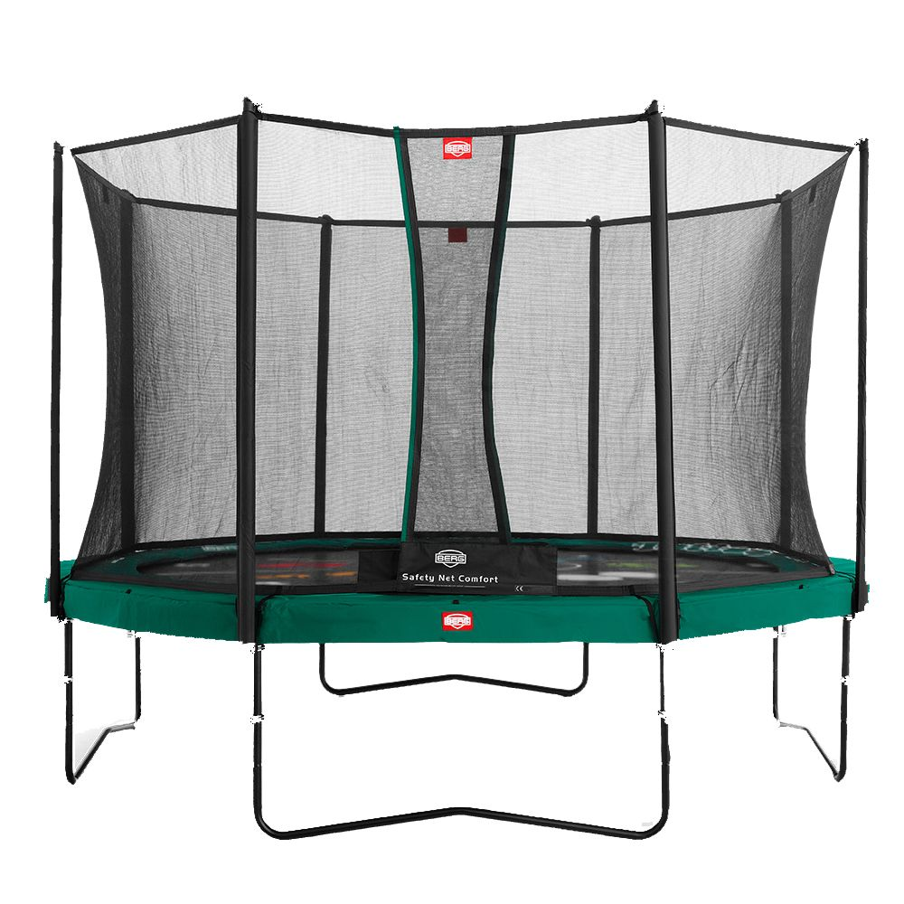 Trampoline Berg Champion Green Ø430 Tatoo + Filet de protection