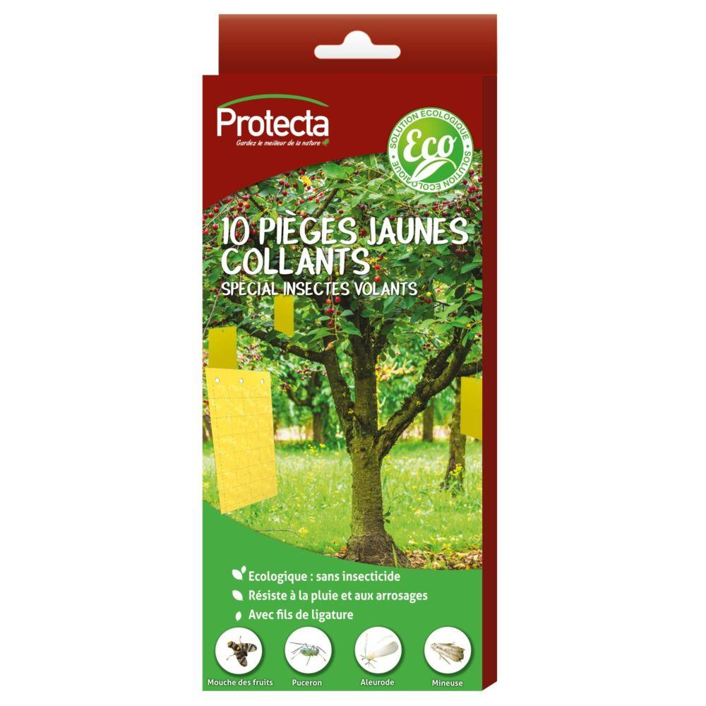 10 pièges chromatiques jaunes petit format (10x18cm) – Protecta