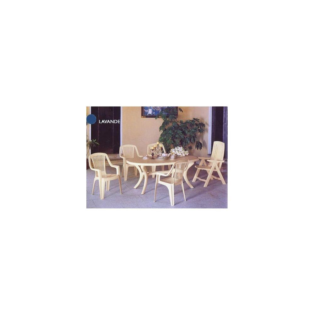 Salon de jardin \'Classique\' bleu lavande 6 fauteuils carton - Gamm Vert