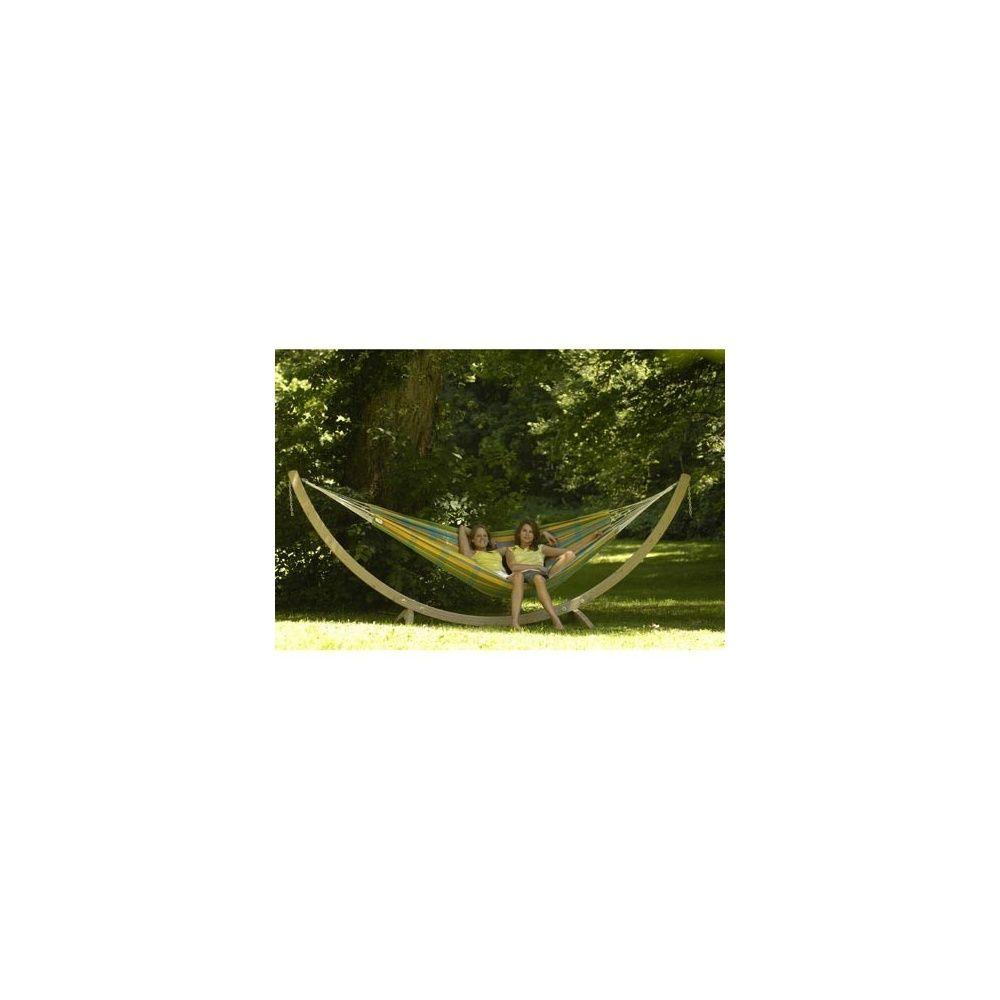 hamac 39 barbados lemon 39 2 personnes 230x150 cm toile 230x150cm dans sa housse assortie gamm vert. Black Bedroom Furniture Sets. Home Design Ideas