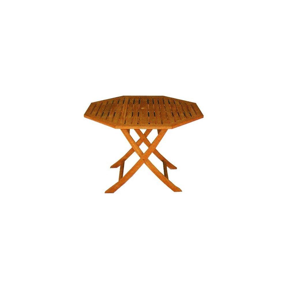 Table octogonale pliante à pied central - Collection Mulia Diam. 110 ...