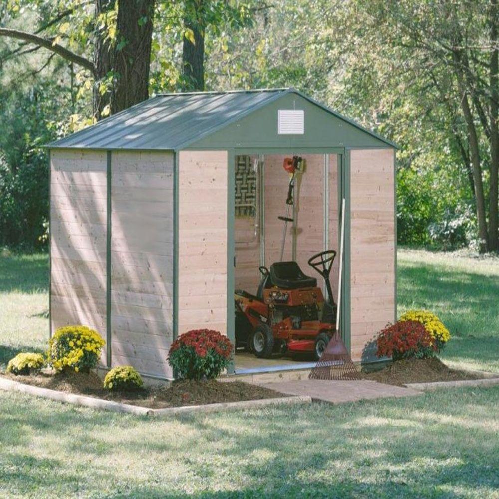 Abri de jardin cèdre et acier 7,60 m² Ep. 12 mm 2 colis : 84 x 193 ...