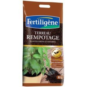Terreau de rempotage plantes vertes et fleuris 6 L Fertil...