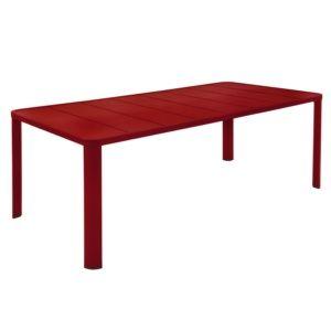 100 Table De Jardin Fermob Oléron L205 L100 Cm Aluminium Piment