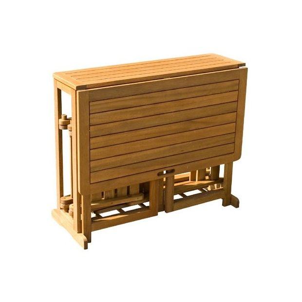 Salon de jardin July : table pliante + 2 chaises pliantes