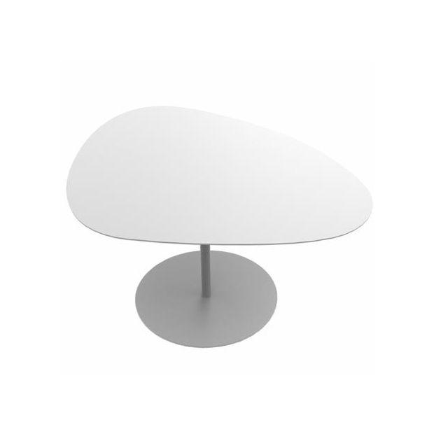 Table Galet X 39 Ht Basse Blanc Cm 58 75 OiPZkuTX