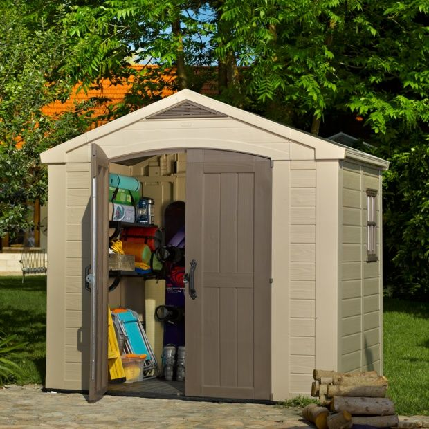 Petit abri de jardin r sine keter 4 67 m ep 16 mm sydney - Cabane de jardin en resine ...